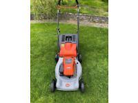 "Flymo Petrol self drive lawnmower serviced sharpened 18""cut Briggs mower trade in welcome"