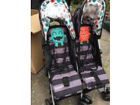 brand new Unisex Cosatto Supa Dupa Cuddle Monster Pushchairs/Double Seat Stroller
