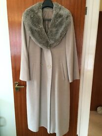 Light Taupe Coloured Coat from Marks & Spencer