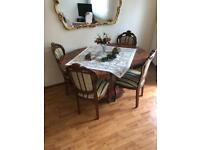 4 person dining table with chairs + corner cabinet + extra table + tv stand