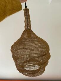 Beehive mesh pendant light
