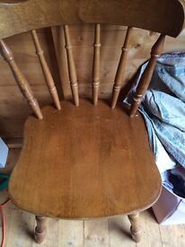 PINE DINING CHAIRS X 2
