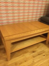 Oak coffee table reduced price