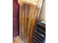 Oak work top NEW . Bought but never used 6 ft 6 long And width 2 feet wide