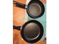 Large and Small Frying Pans