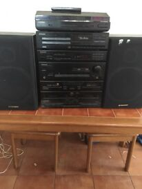 Pioneer Seperates System with record player