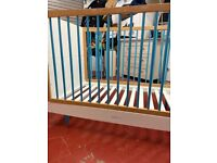 Skandi cot bed snuzkot - blue and original mattress for additional 91£ (both for 330£)