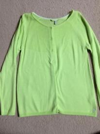 Joules cardigan in lime green, age 11-12, never worn
