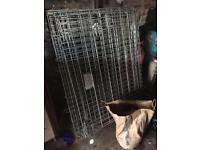 Metal folding cage