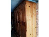 Solid Pine Ducal 4 Door 2 drawers Wardrobe