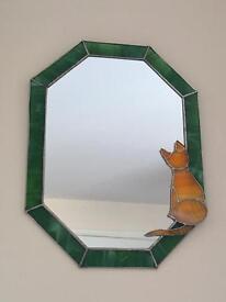 Green Leaded Cat Mirror