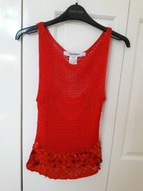 Ladies Sparkly Red Top - Ideal for Xmas