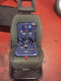 Rear integrated child seat ford seat vw