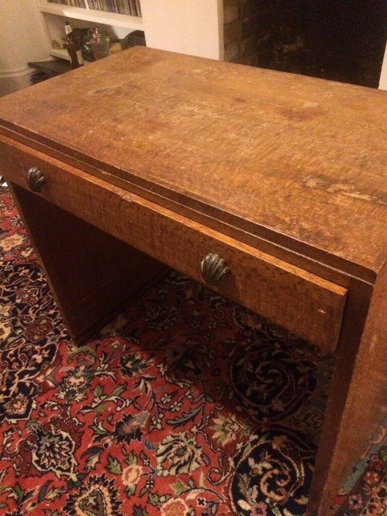 Beautiful old vintage desk - lovely wood and features - probably 1920s/30s/50s?