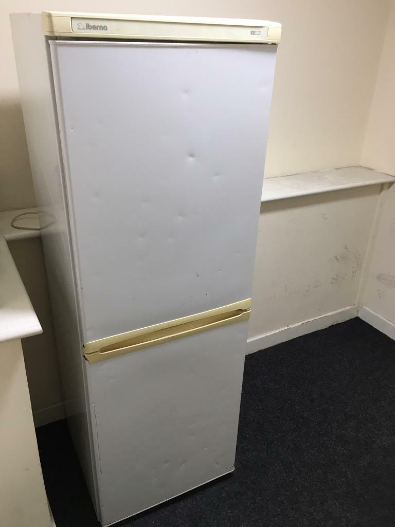 Big fridge freezer white iberna clean amazon
