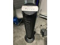 HONEYWELL black tower fan with remote