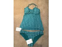 Brand New with tags on, Turquoise tankini from Fat Face Summer 2018 collection, size 10