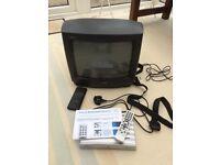 "13"" CRT Toshiba 1450TB TV + Digihome DV940B Freeview box + Scart lead."