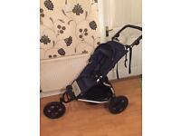 3 wheel stroller (inc cot)