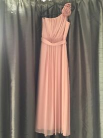 Dessy Bridesmaid Dress in rose pink, size 8-10