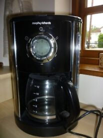 Morphy Richards Coffee Machine - Do not need filters -any coffee granules 12 cups