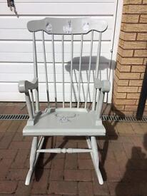 Rocking chair up cycled (shabby chic)