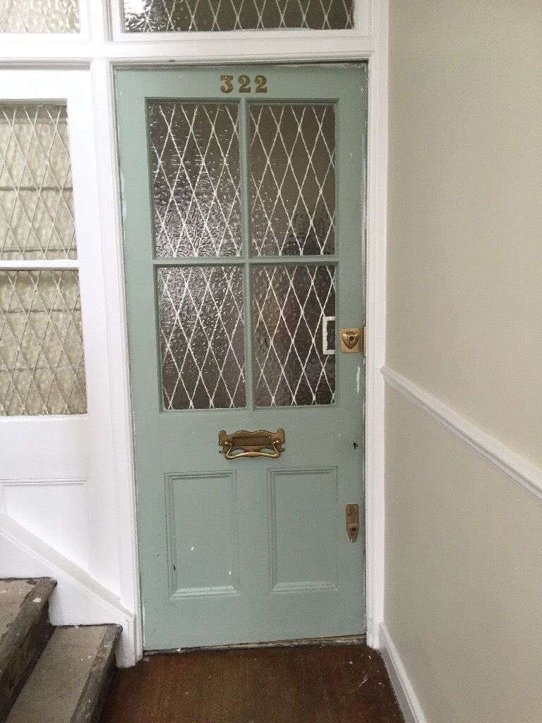Half Glazed Front Door With Lovely Letterbox This Is Very Old And
