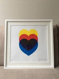 Limited edition art poster - Hearts