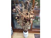 Bargain Decorative Two Sets Of Twigs And Warm White LED Electric Lights With Flowers And Large Vase
