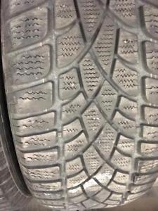 3 pneus d hiver 225/50r17 dunlop