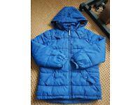 Boys blue coat with hood
