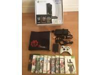 Xbox 360 SLIM , 250 GB console plus 10 games bundle - Bargain £79