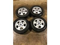 """Set of 16"""" Genuine Ford alloy wheels and tyres Ford Transit Custom Mk 7"""