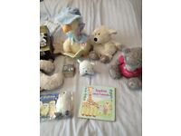 Baby items miscellaneous (teddies, books, feeding items, clothes) mostly brand new