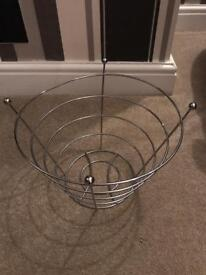 Silver chrome wire fruit bowl