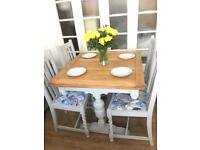 SOLID WOOD DINNING SET FREE DELIVERY LDN🇬🇧SHABBY CHIC TABLE