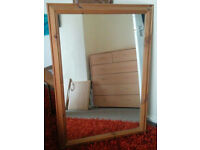 Good Condition Large Pine Mirror