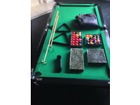 snooker/pool table 6 ft x 3 ft sturdy table and legs all table accessories e.g. table cover,brush