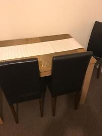 4 chair and table