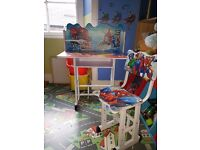 Kids SpiderMan desk.