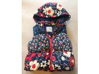 Girls age 2 to age 3 next gilet body warmer jacket