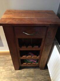 Acacia wood wine rack unit