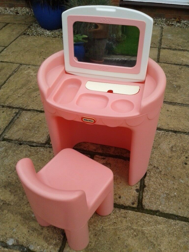 Little tikes toddler pink make up dressing table with fold down little tikes toddler pink make up dressing table with fold down mirror chair geotapseo Image collections