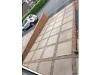 Paving slabs and block paving