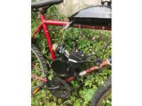 Mountain bike with 2 stroke 80cc engine