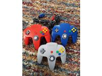 3 OFFICIAL NINTENDO N64 GAME CONTROLLERS