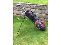 Left Hand Golf Clubs (Junior) & Golf Bag For Sale (Excellent Condition)