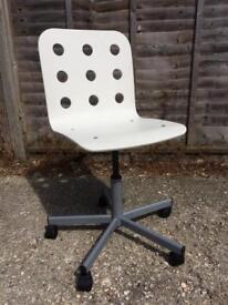 Ikea swivel chair in white
