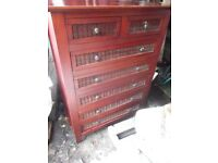 Chest of Drawers and Bedside Cabinet