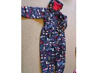 All-in-one waterproof oversuit for age 5-6
